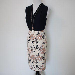 ANN TAYLOR Size 0 Skirt Blouse Set Pink Blue